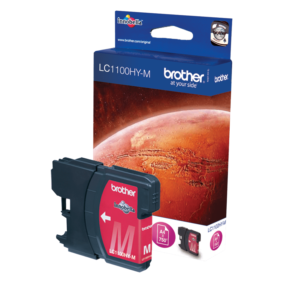 Origineel Brother inktpatroon LC1100HYM - magenta - hoog rendement