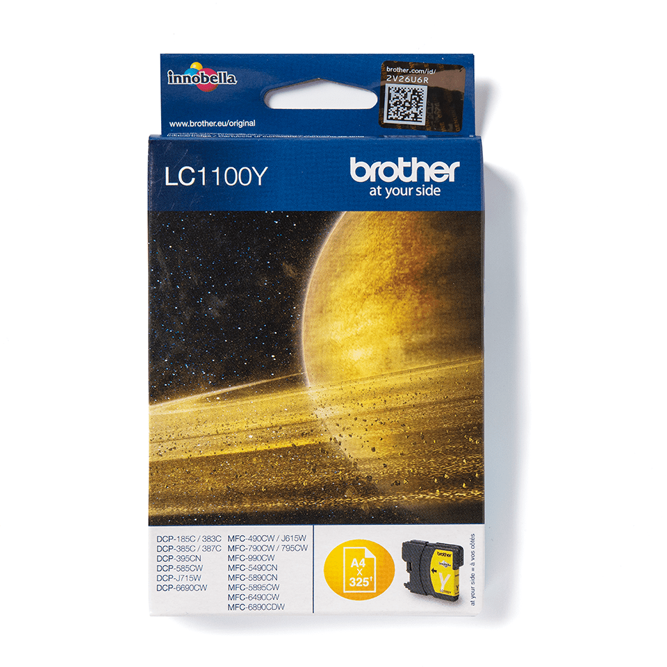 Cartouche d'encre LC1100Y Brother originale – jaune