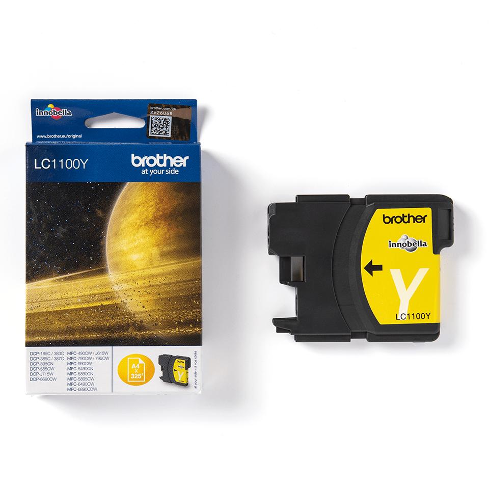 Brother LC1100Y inktpatroon geel 3