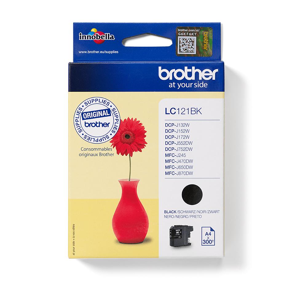 Brother LC121BK inktpatroon zwart 3