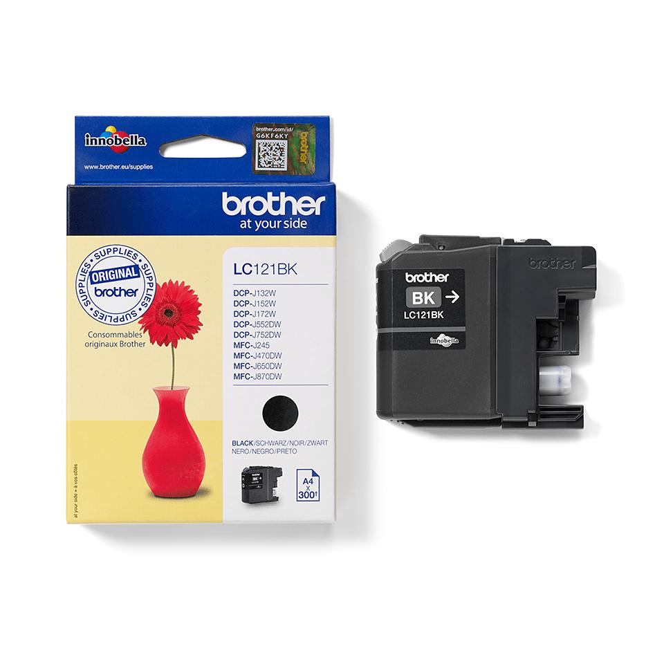 Brother LC121BK inktpatroon zwart 2