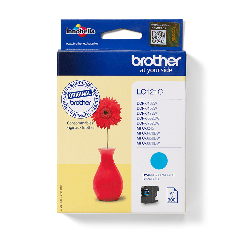Cartouche d'encre LC121C Brother originale – cyan 2