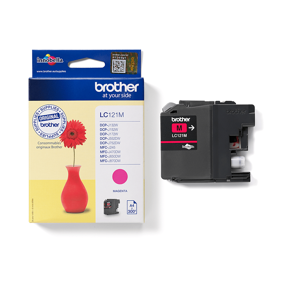 Origineel Brother inktpatroon LC121M - magenta 2