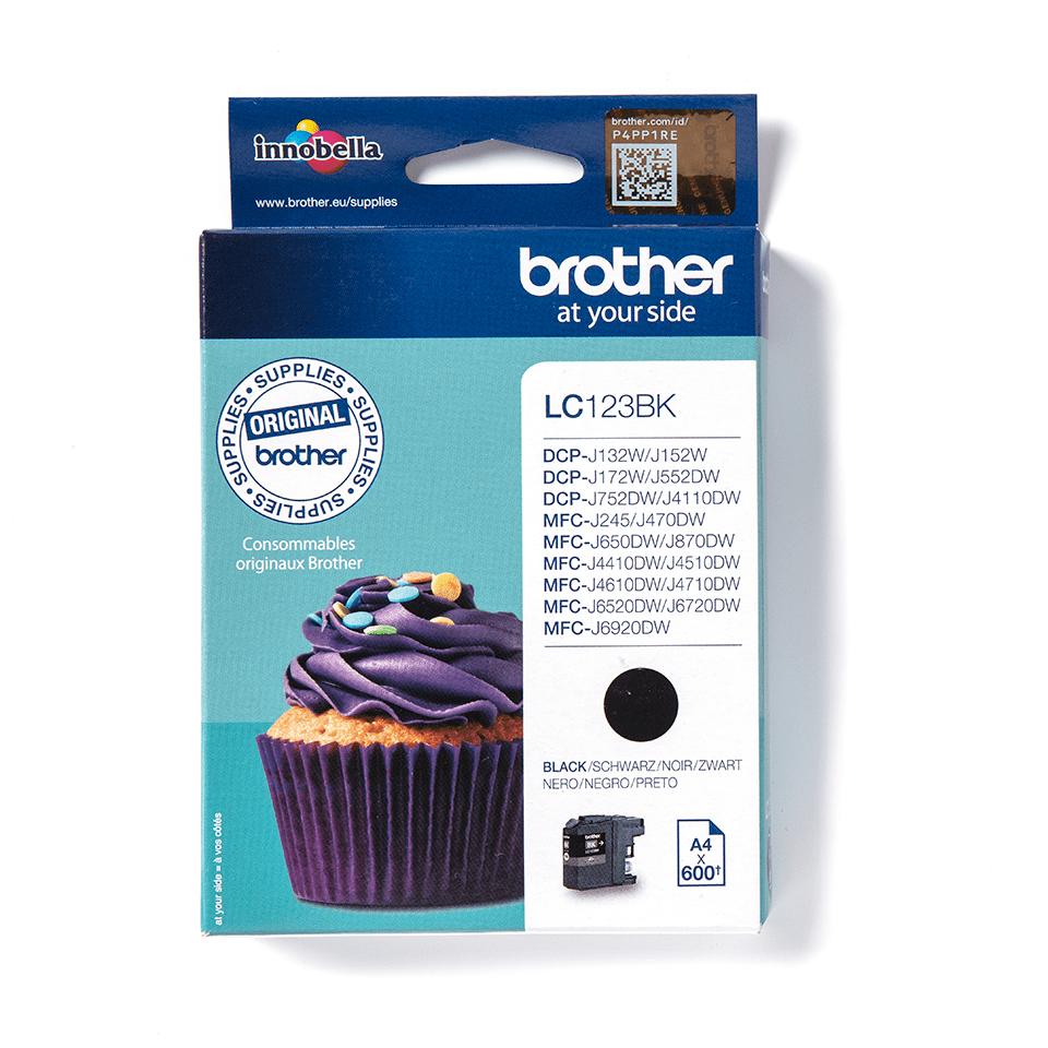 Brother LC123BK inktpatroon zwart