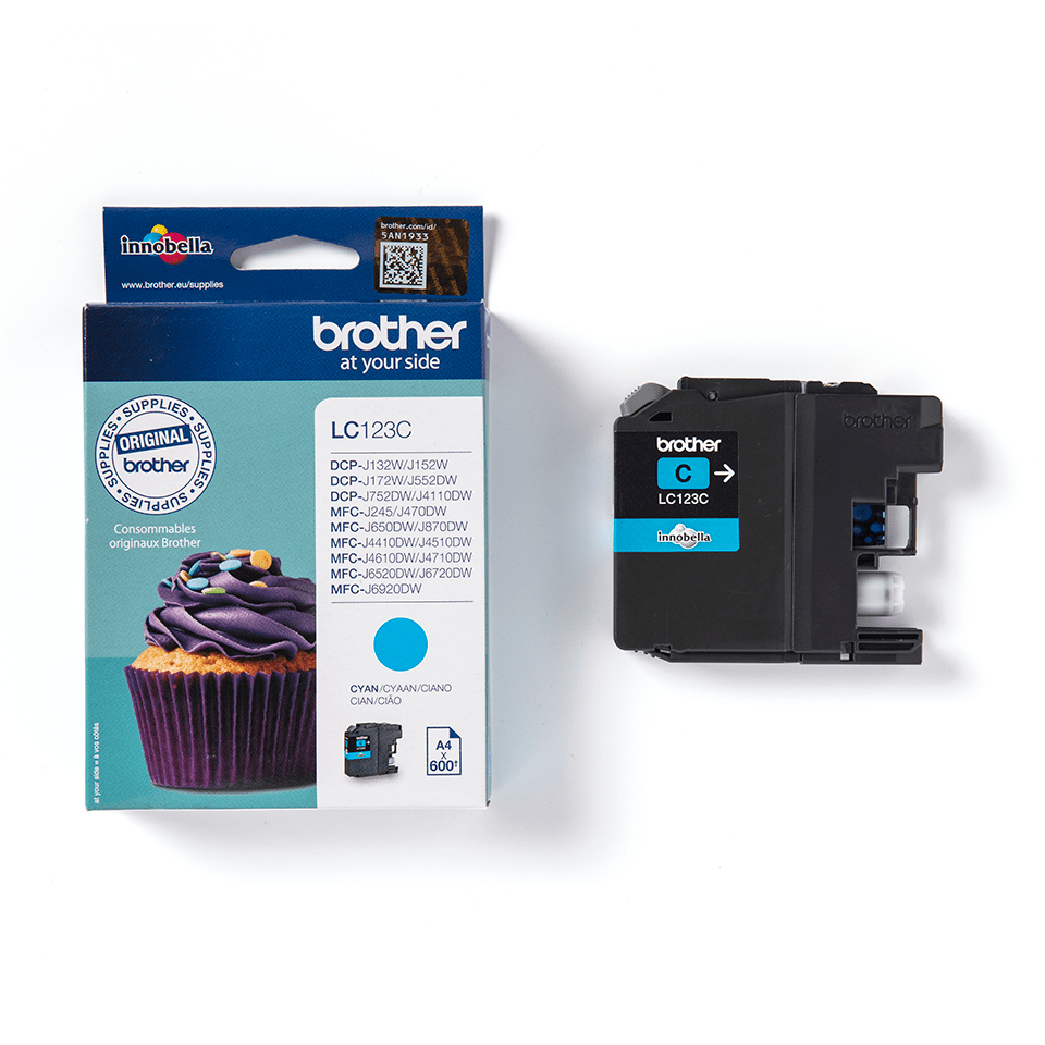 Cartouche d'encre LC123C Brother originale – cyan 2
