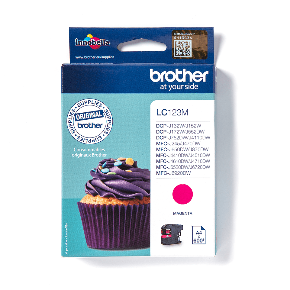 Origineel Brother inktpatroon LC123M - magenta