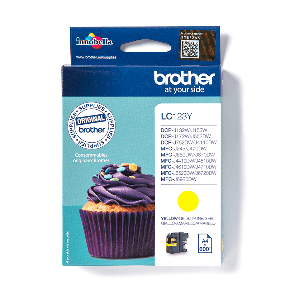 Brother LC123Y cartouche d'encre jaune