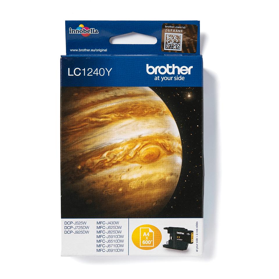 Origineel Brother inktpatroon LC1240Y - geel