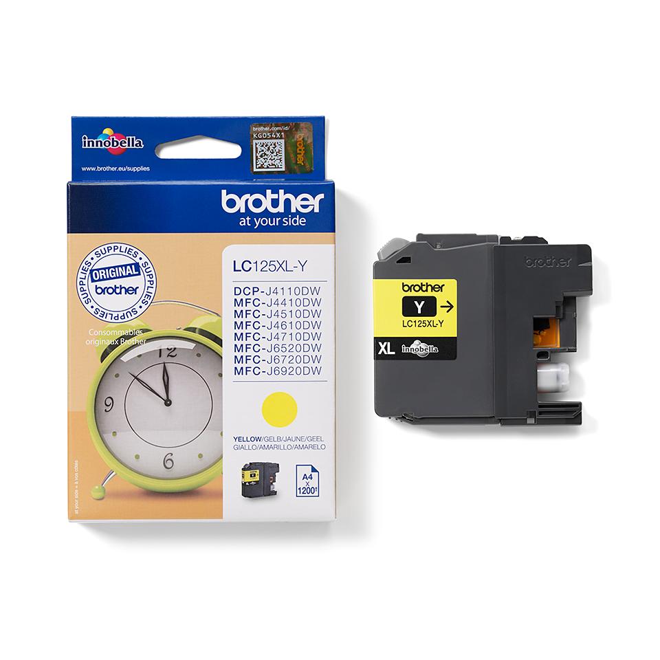 Origineel Brother inktpatroon LC125XLY - geel - hoog rendement