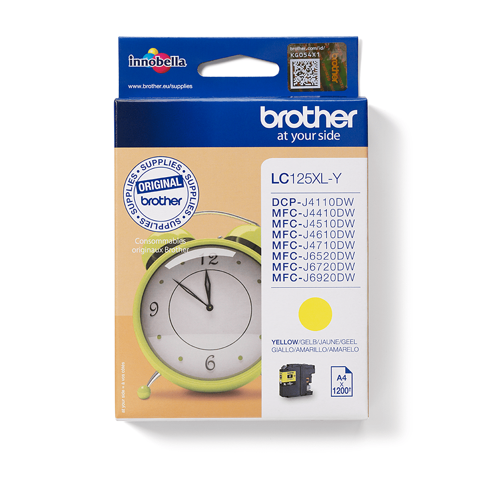 Brother LC125XLY inktpatroon geel