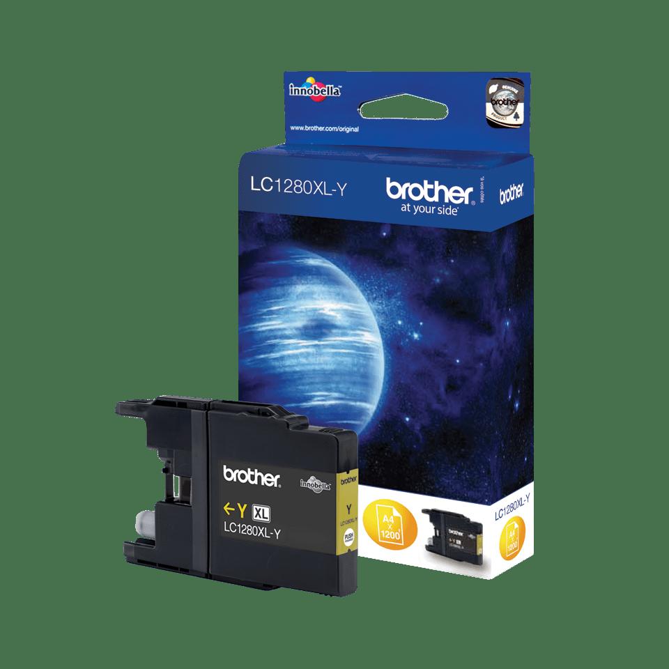 Origineel Brother inktpatroon LC1280XLY - geel - hoog rendement