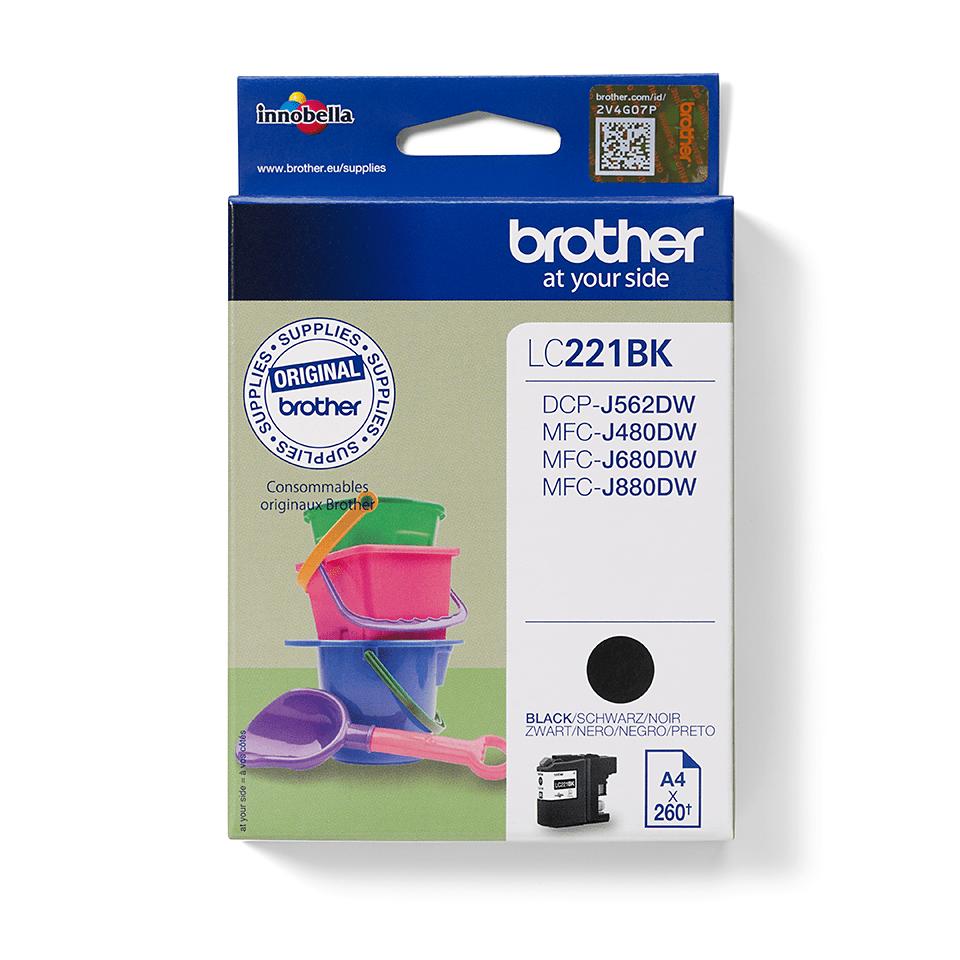Brother LC221BK inktpatroon zwart 2