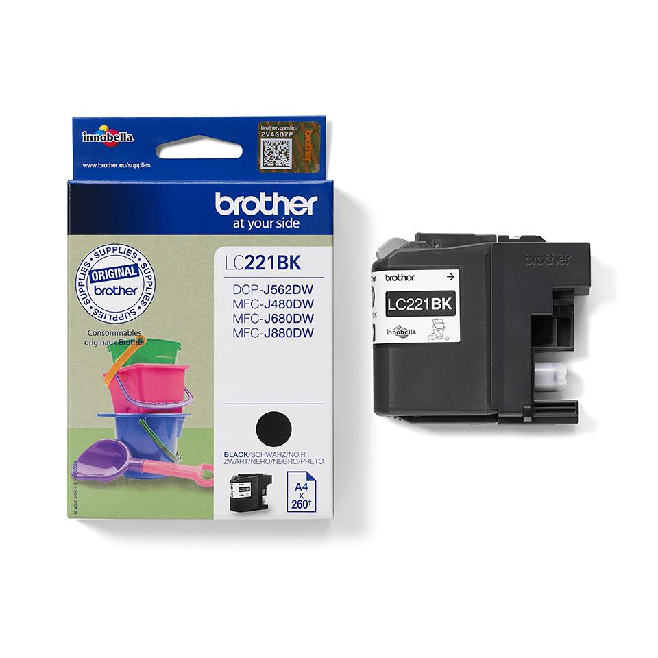 Origineel Brother inktpatroon LC221BK - zwart 2