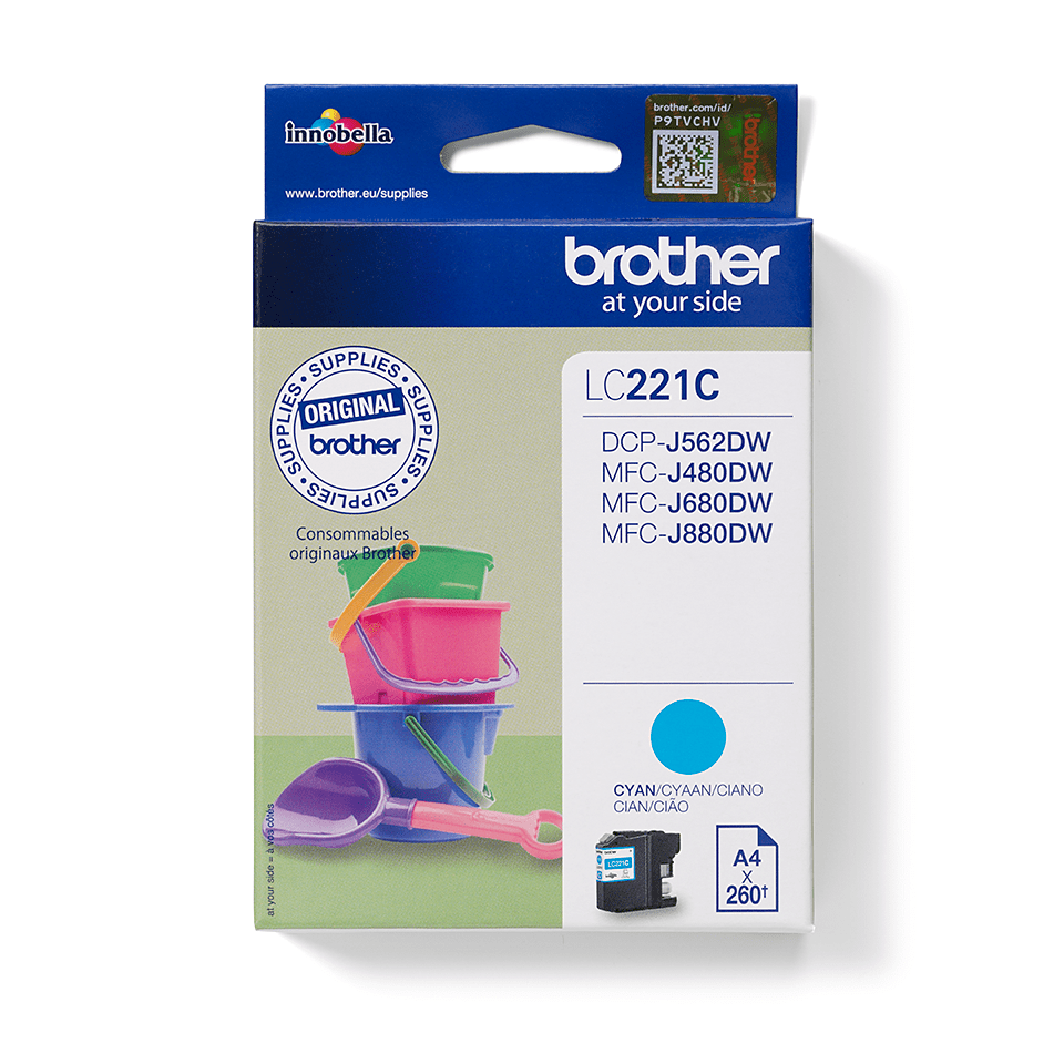 Cartouche d'encre LC221C Brother originale – cyan