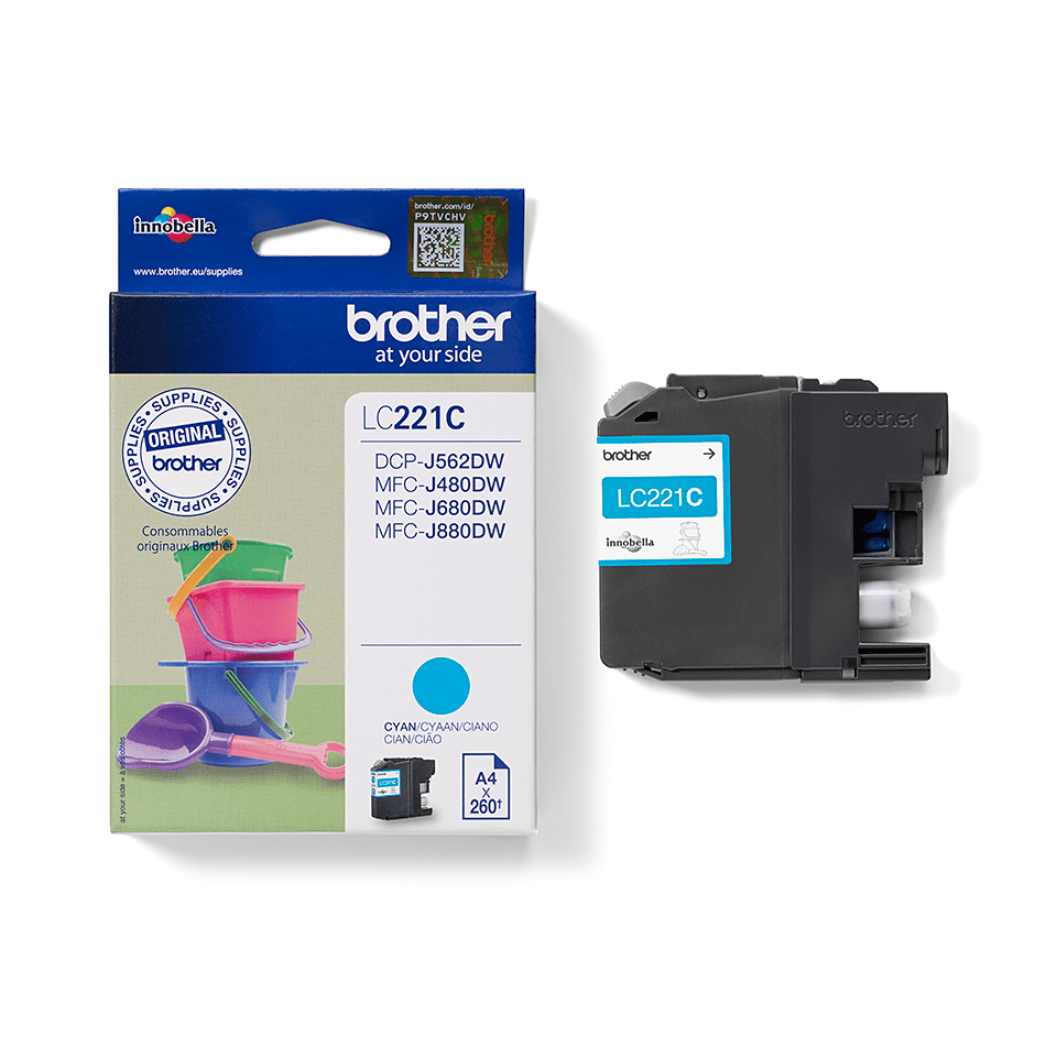 Brother LC221C cartouche d'encre cyan