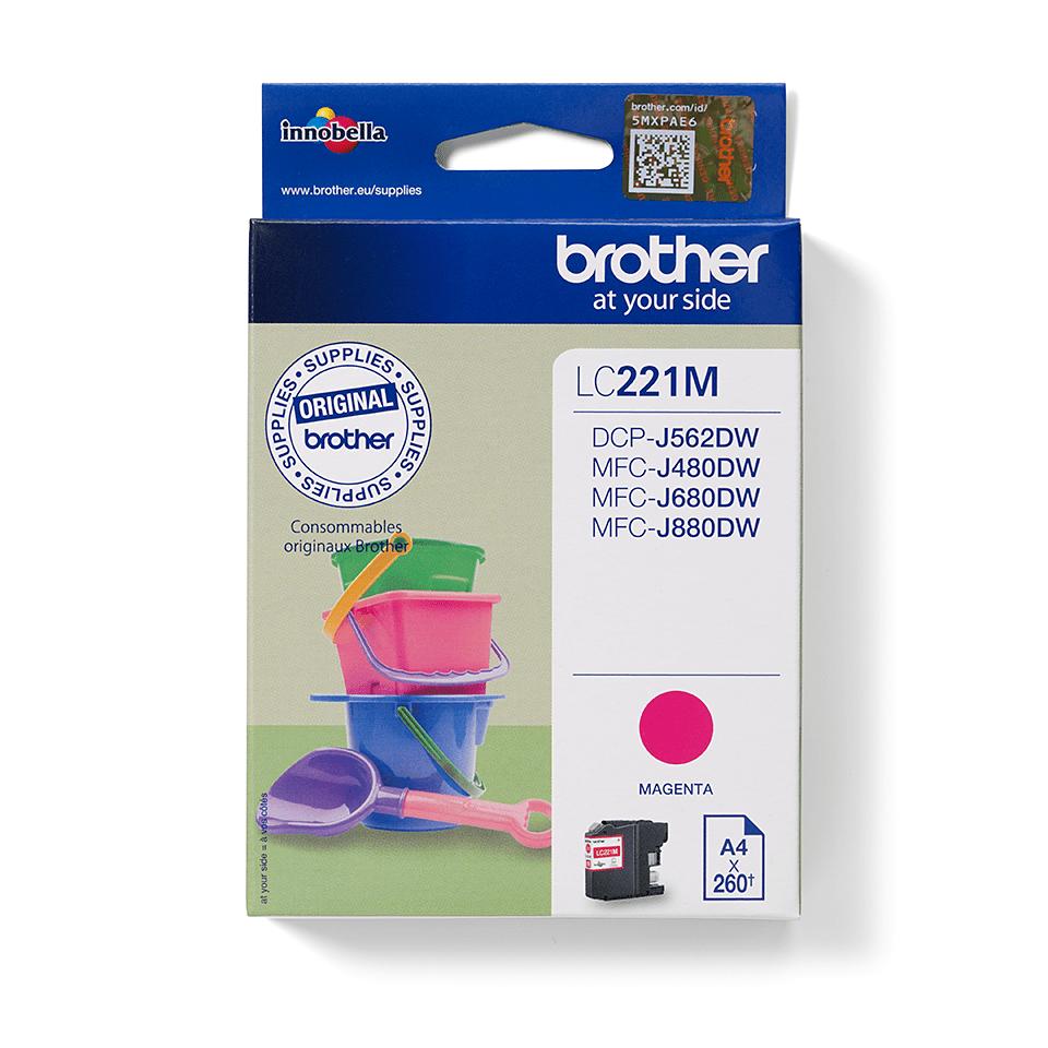 Origineel Brother inktpatroon LC221M - magenta