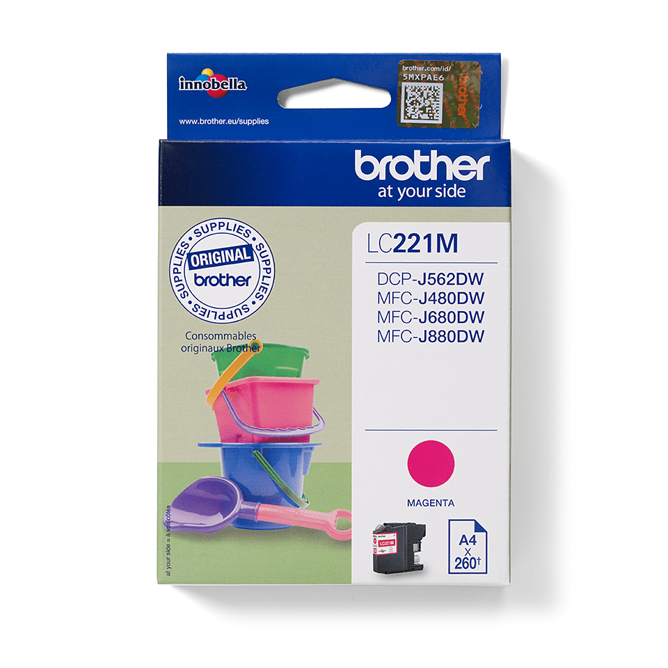 Origineel Brother inktpatroon LC221M - magenta 2