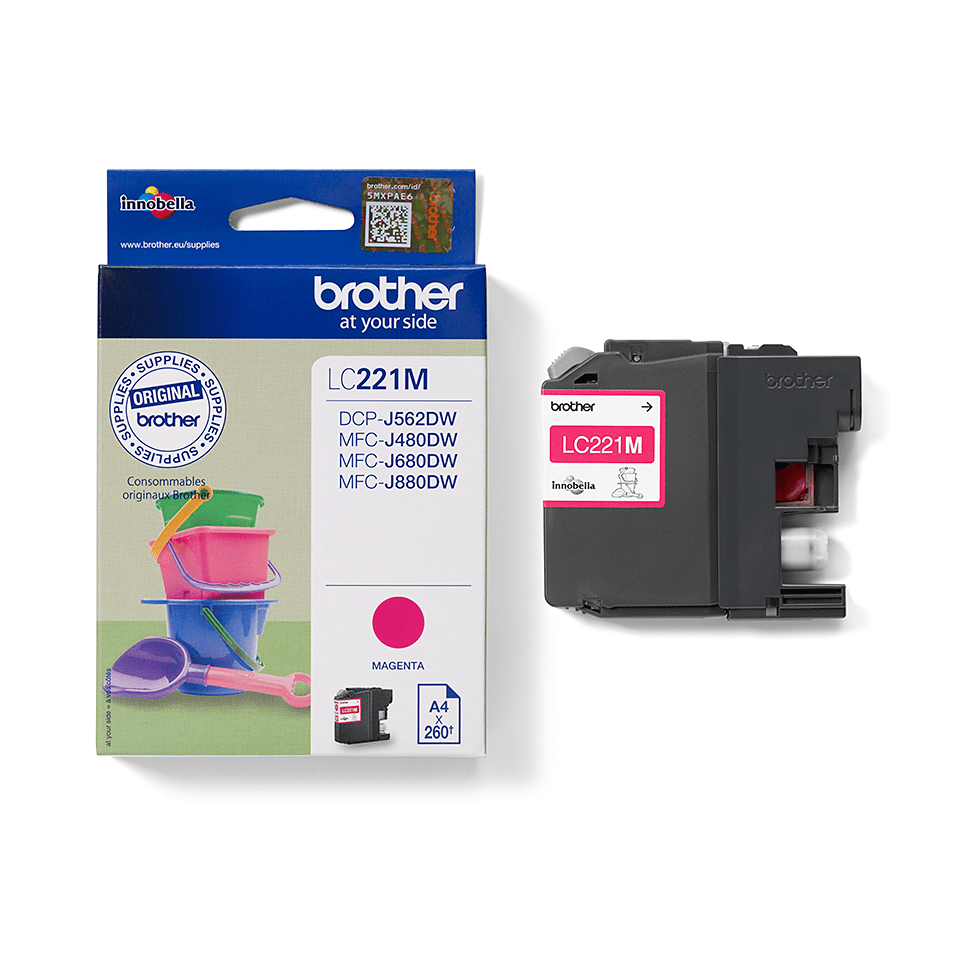 Origineel Brother inktpatroon LC221M - magenta