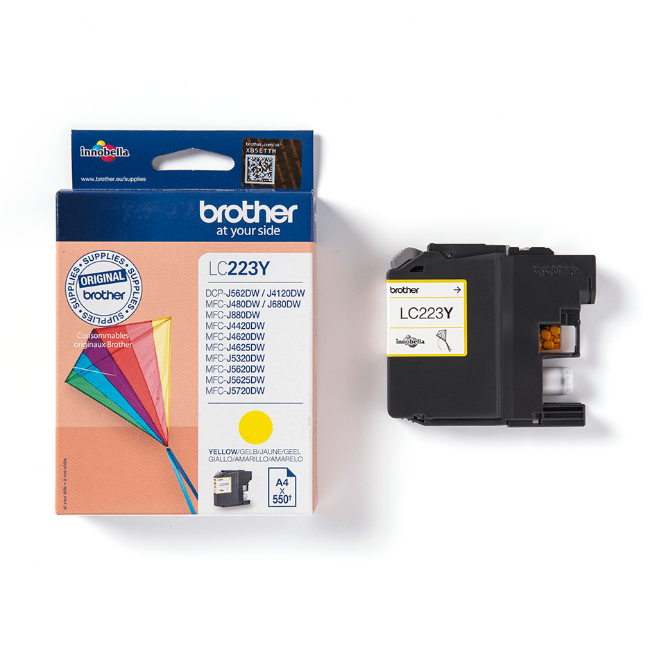 Brother LC223Y cartouche d'encre jaune 3