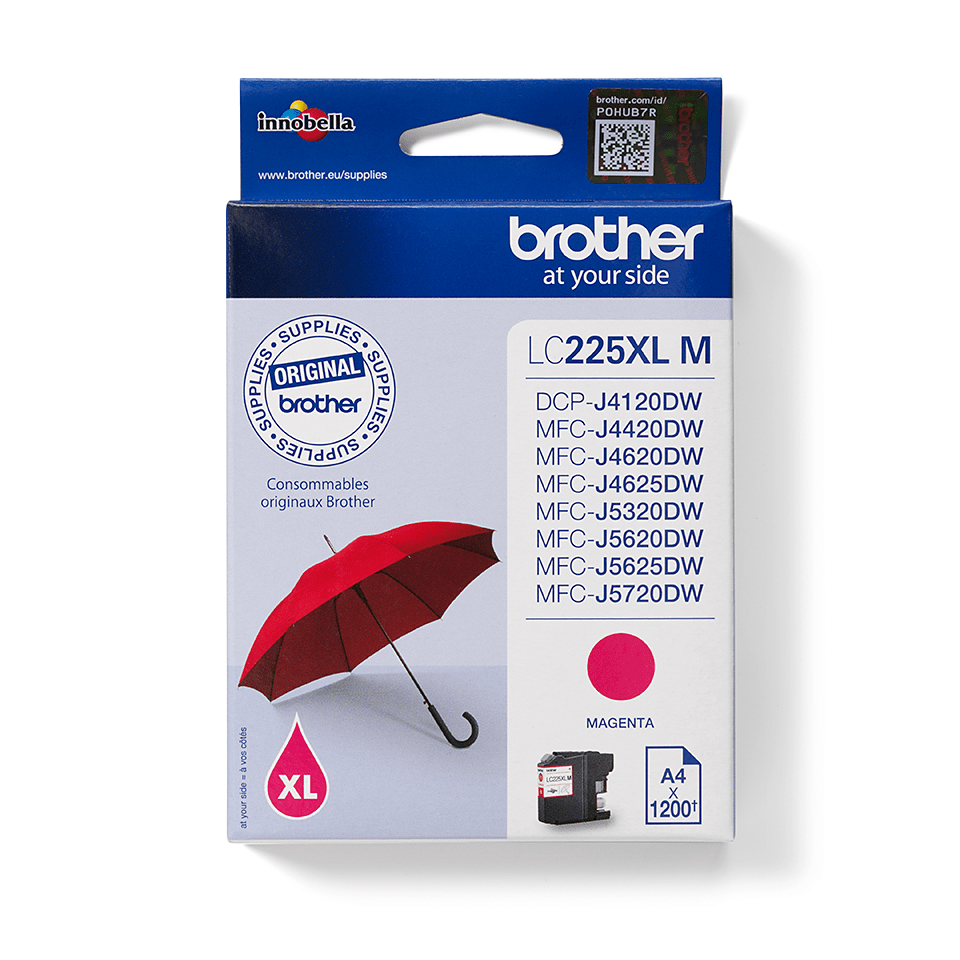 Origineel Brother inktpatroon LC225XLM - magenta - hoog rendement