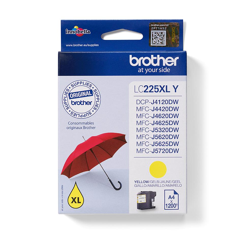 Origineel Brother inktpatroon LC225XLY - geel - hoog rendement 0