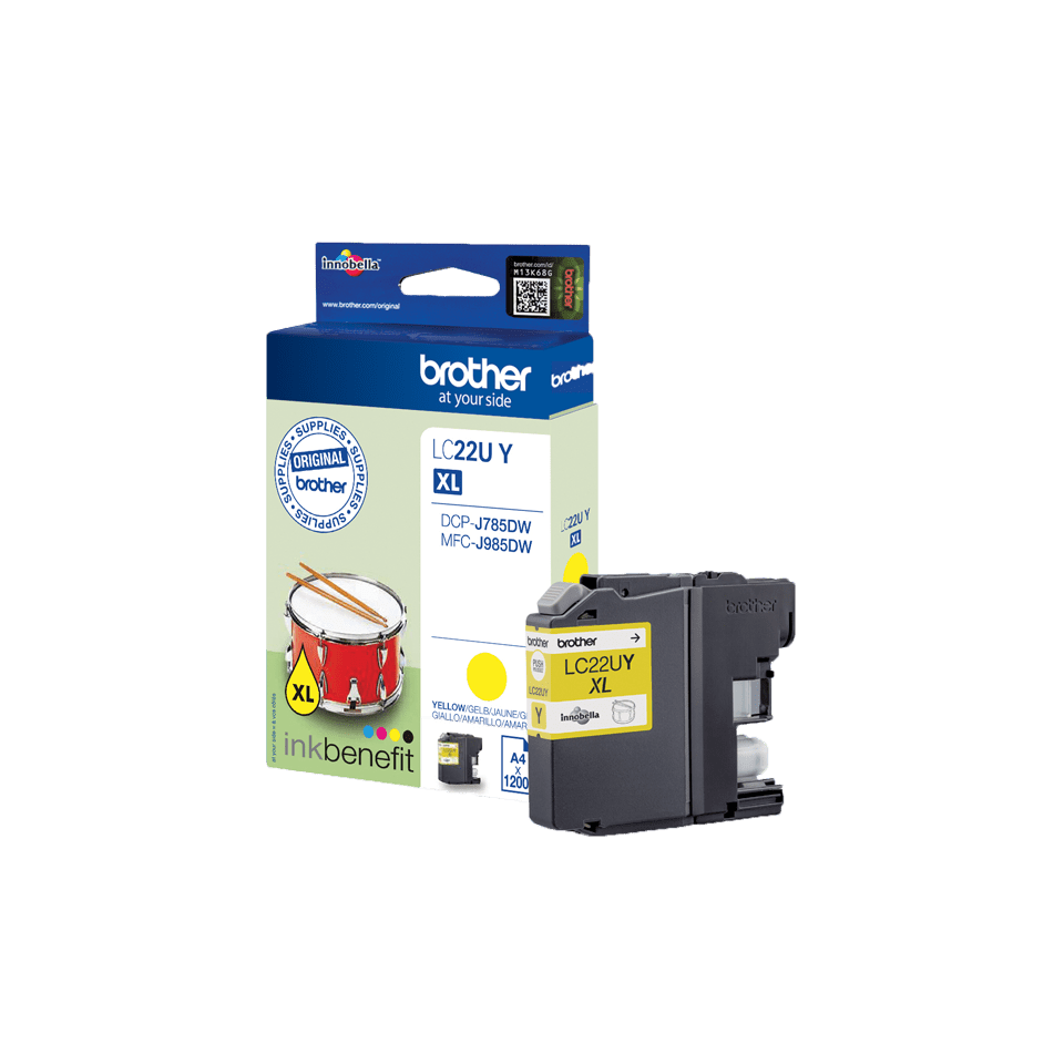 Brother LC22UY cartouche d'encre jaune