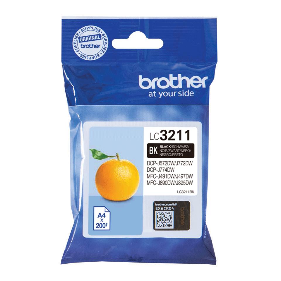 Origineel Brother inktpatroon LC3211BK - zwart