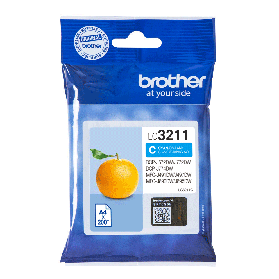 Cartouche d'encre LC3211C Brother originale – cyan