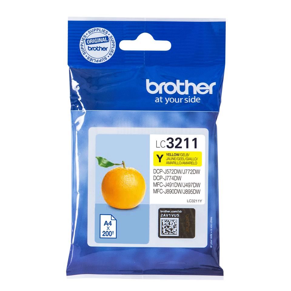 Cartouche d'encre LC3211Y Brother originale – jaune