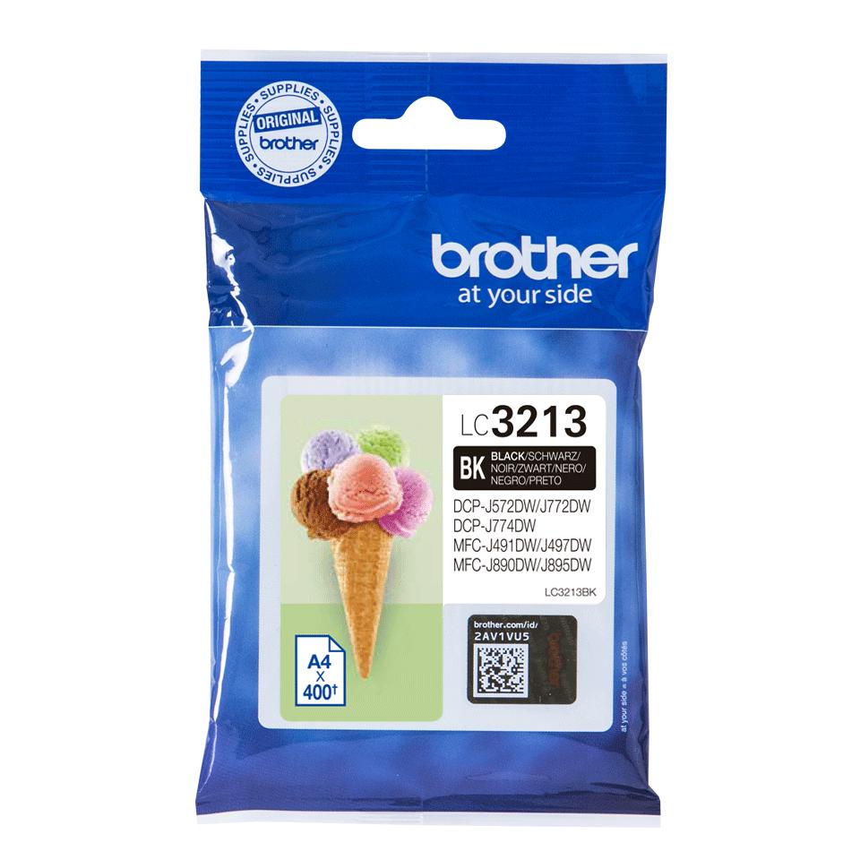Origineel Brother inktpatroon LC3213BK - zwart - hoog rendement
