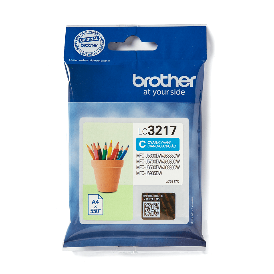 Origineel Brother inktpatroon LC3217C - cyaan