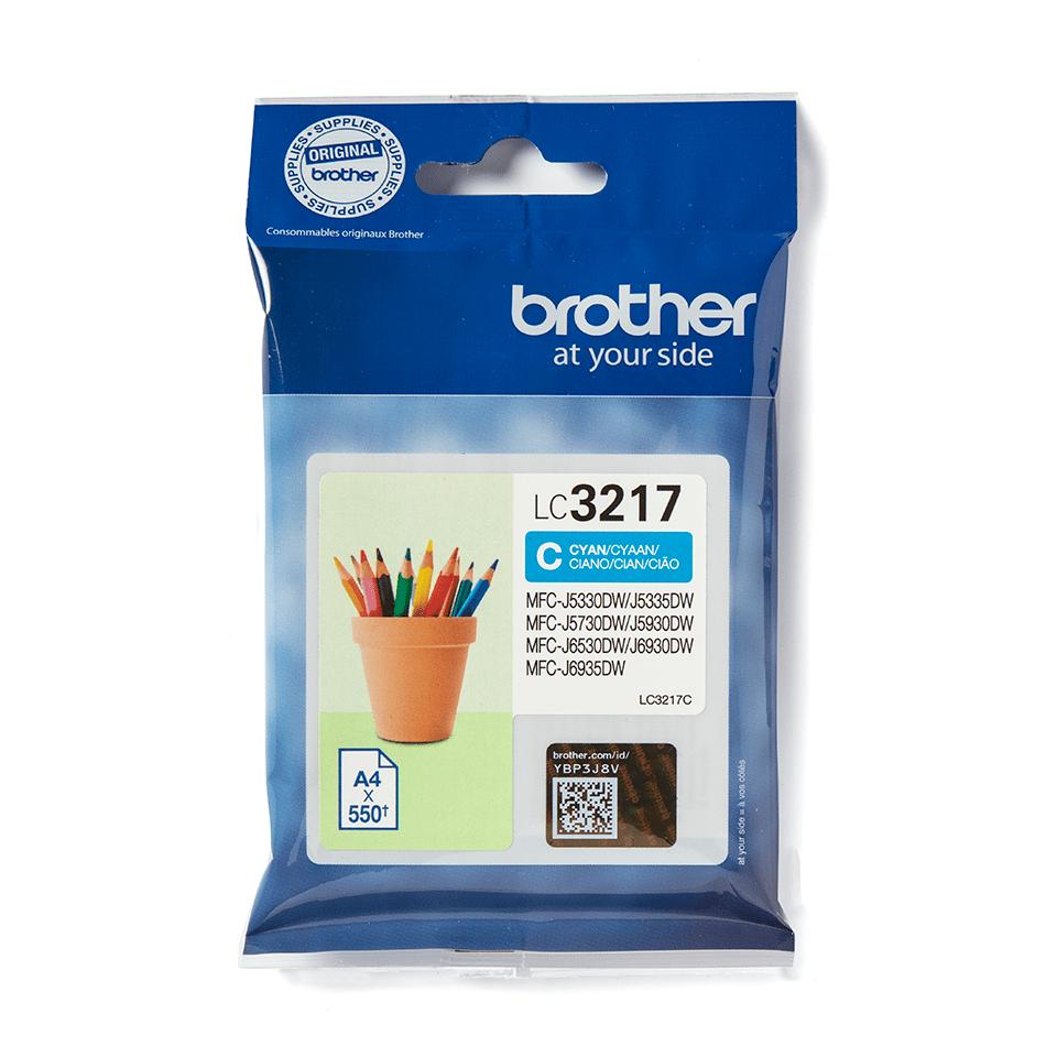 Origineel Brother inktpatroon LC3217C - cyaan 2