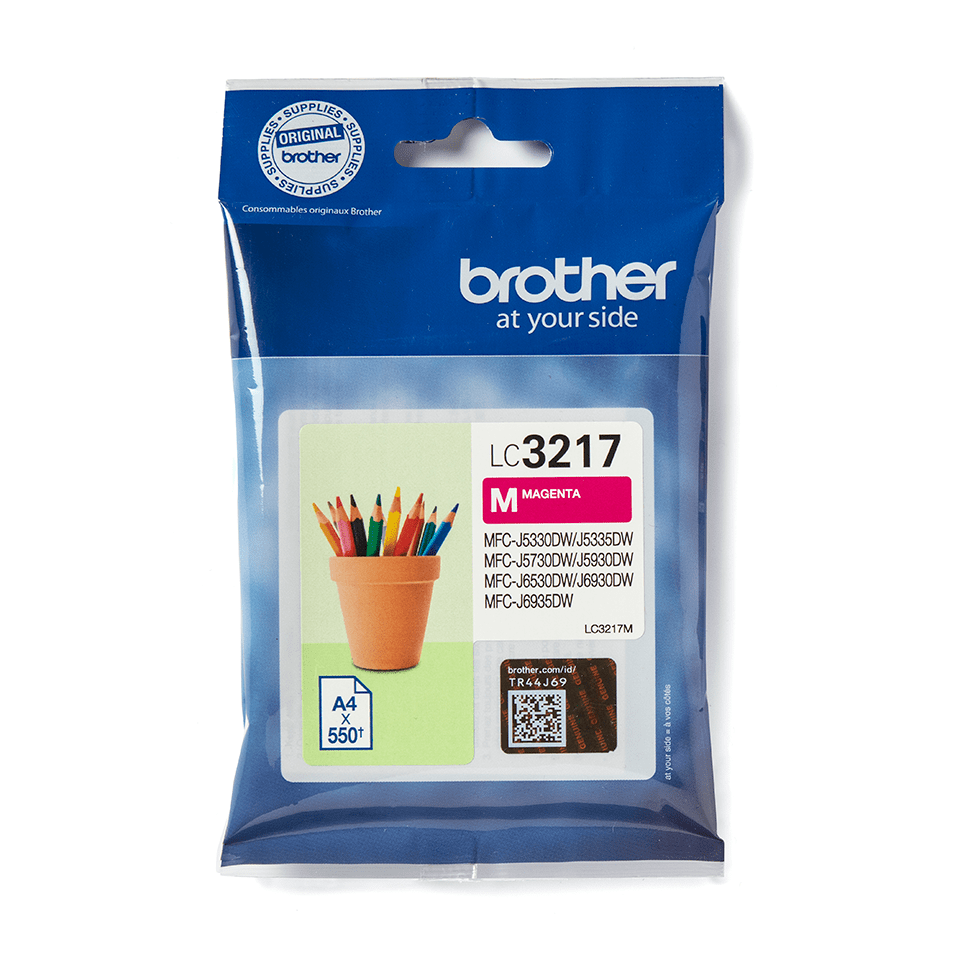 Cartouche d'encre LC3217M Brother originale – magenta