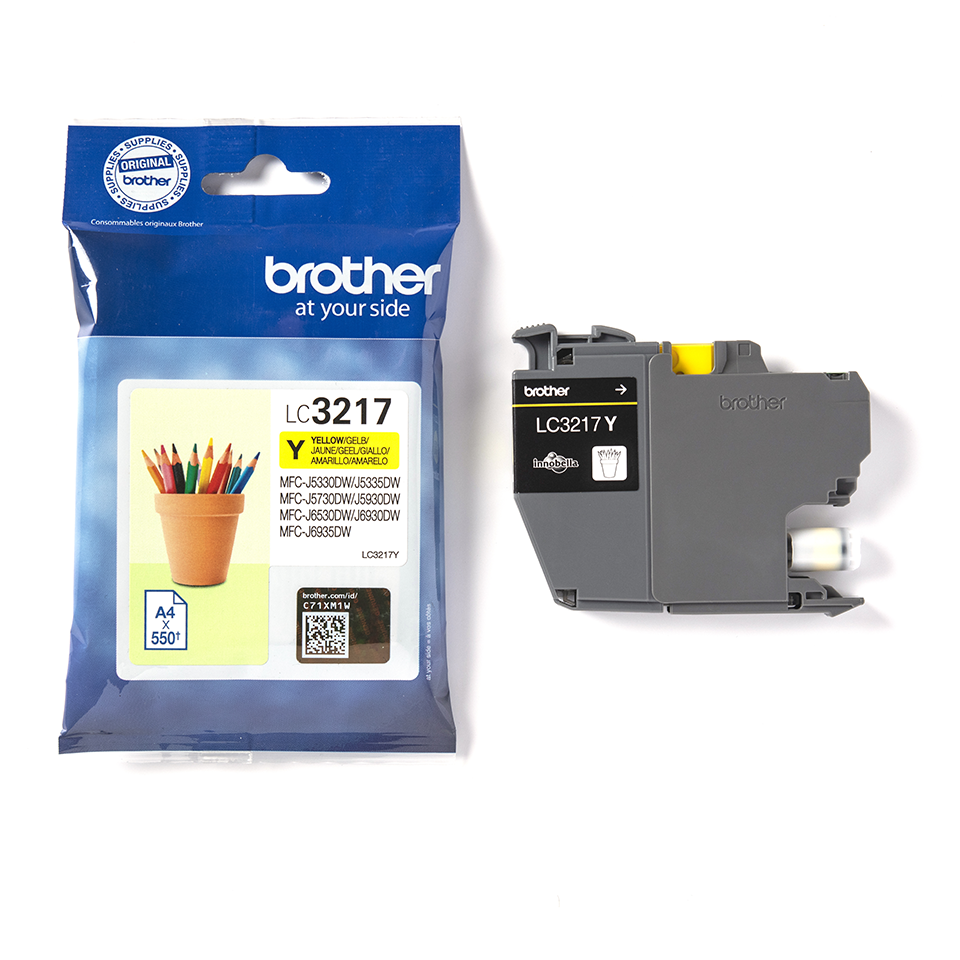 Brother LC3217Y cartouche d'encre jaune 3