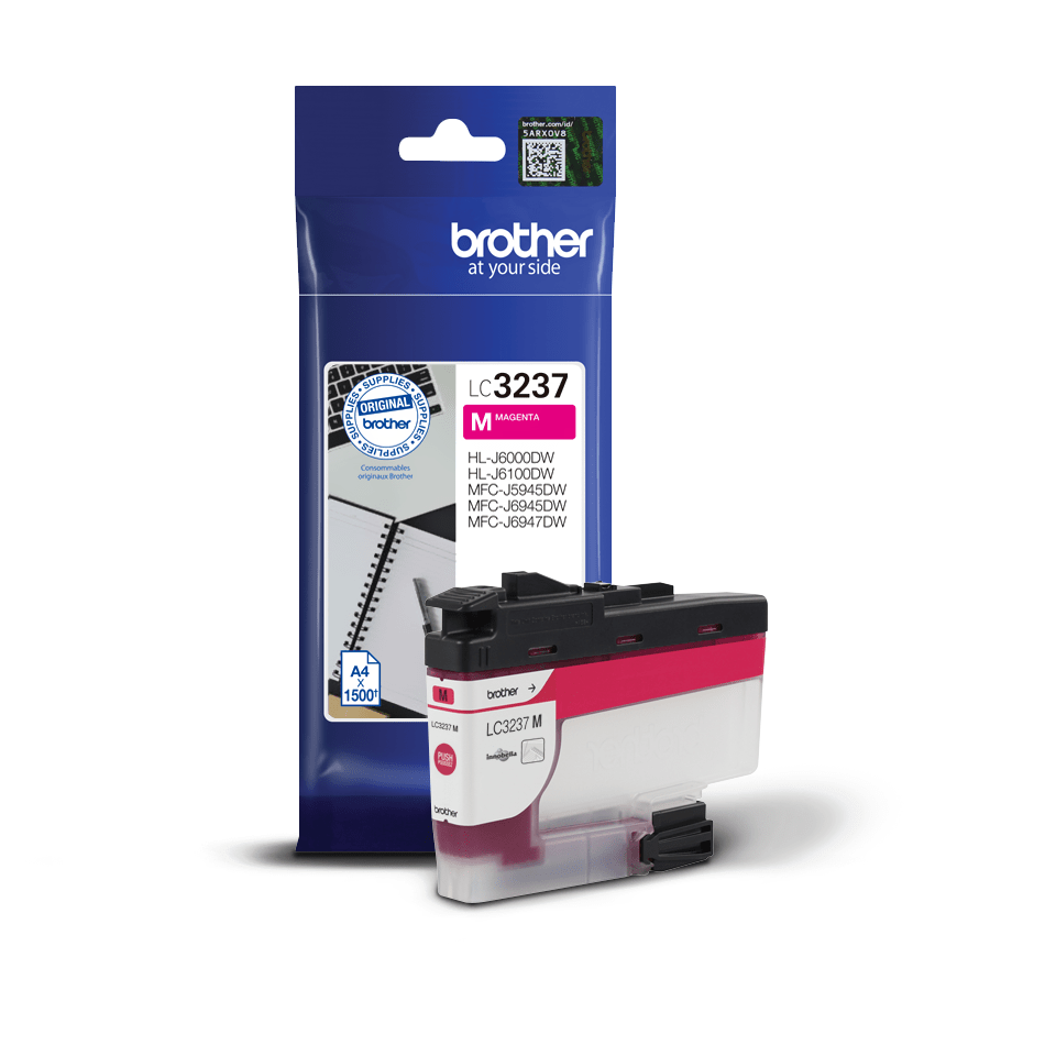 Brother LC3237M inktpatroon magenta 2