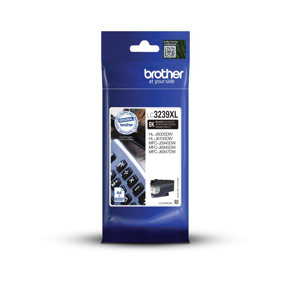 Origineel Brother inktpatroon LC3239XLBK - zwart - hoog rendement