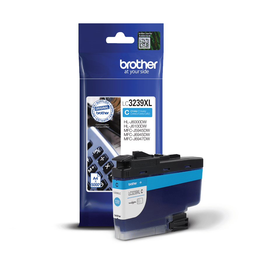 Brother LC3239XLC cartouche d'encre cyan 2