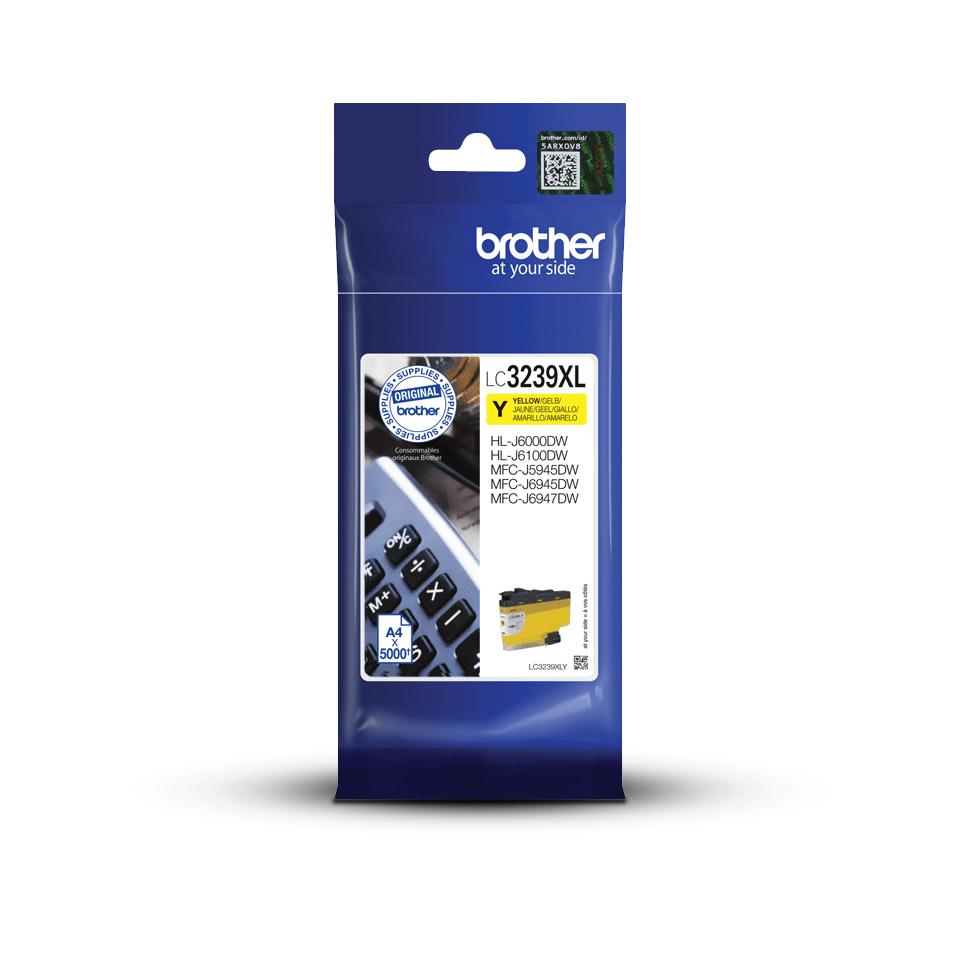 Origineel Brother inktpatroon LC3239XLY - geel - hoog rendement 3