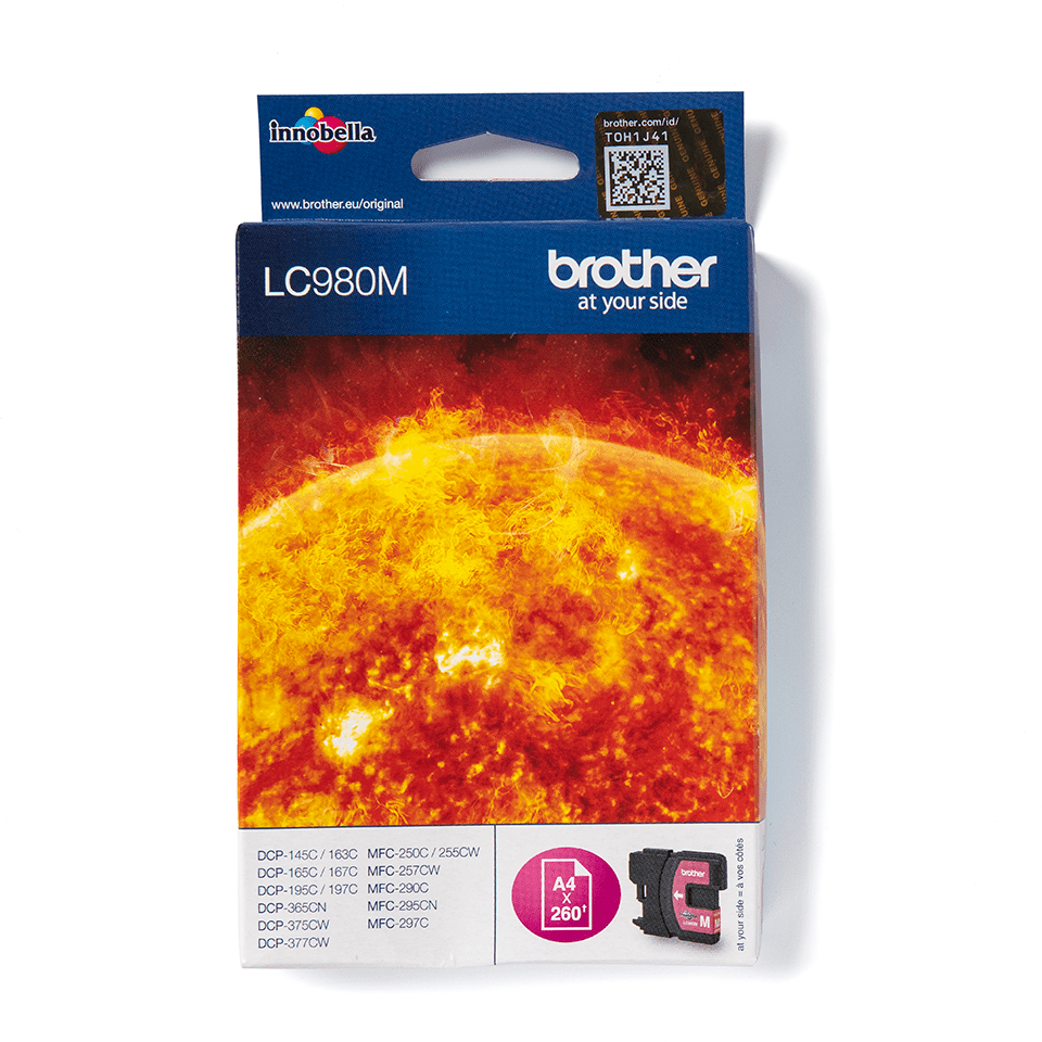 Cartouche d'encre LC980M Brother originale – magenta