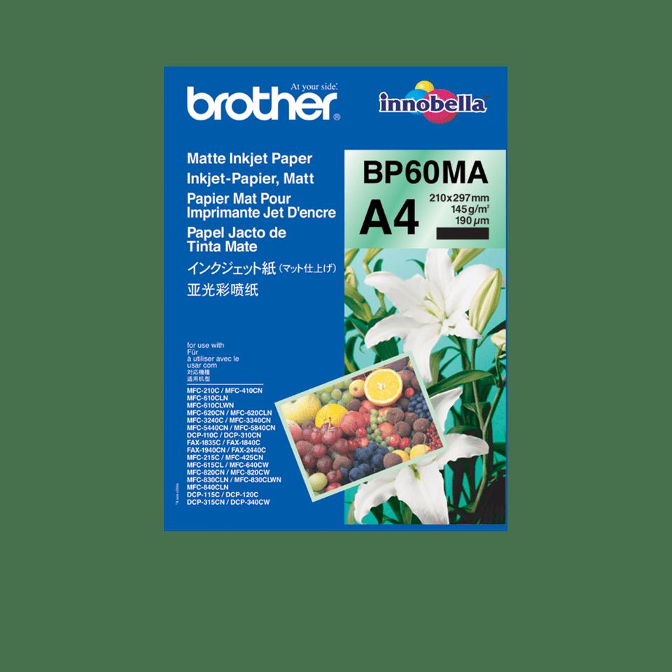 Papier mat jet d'encre BP60MA A4 Brother original