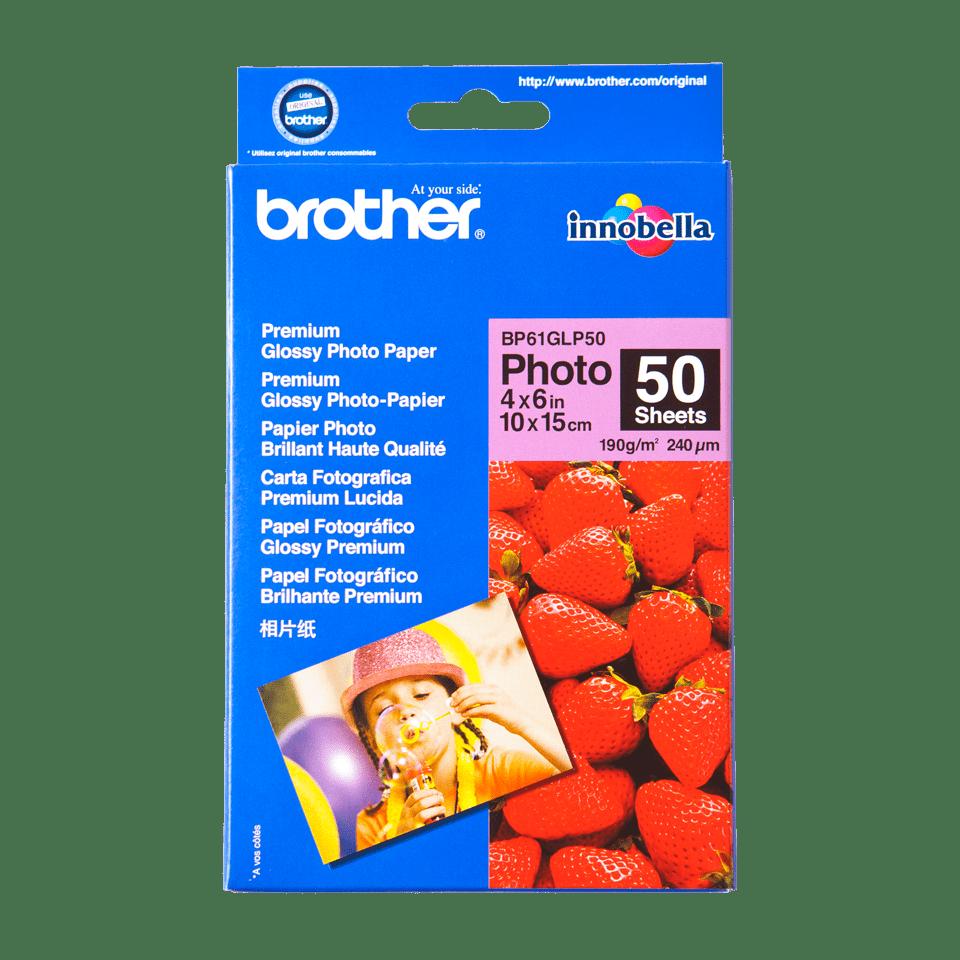 Origineel Brother BP61GLP50 Glanzend Fotopapier – 10 x 15 cm