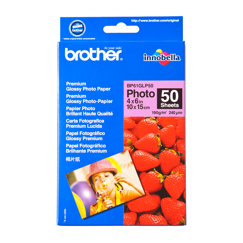 Brother BP61GLP50 papier photo brillant 10 x 15 cm