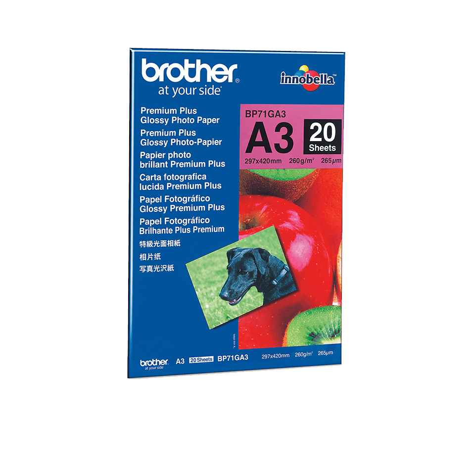 Origineel Brother BP71GA3 A3 Glanzend Fotopapier