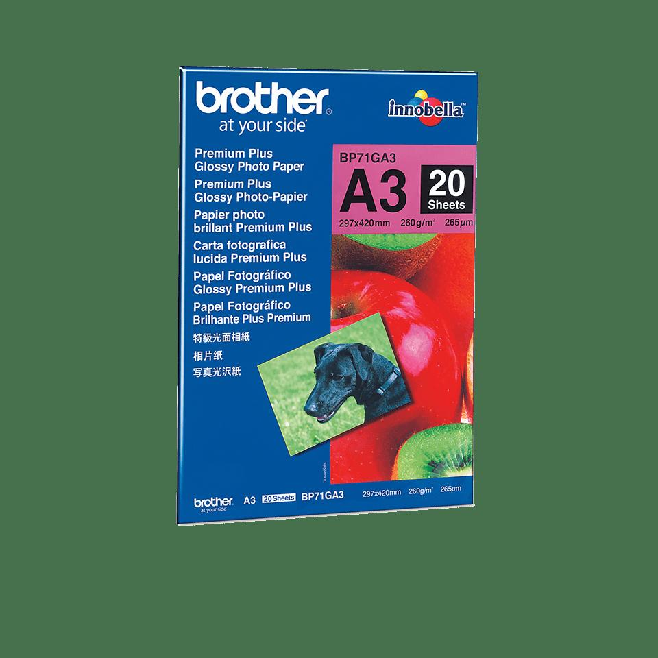 Origineel Brother BP71GA3 A3 Glanzend Fotopapier