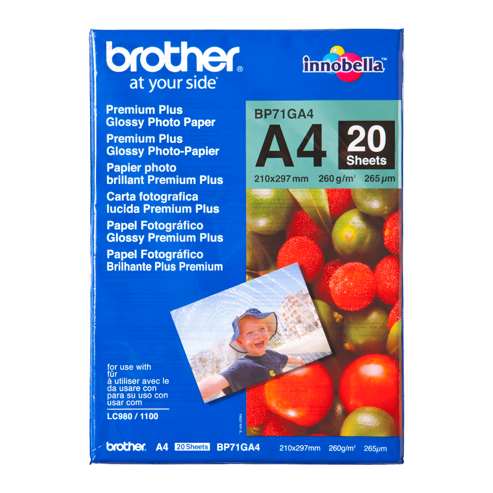 Origineel Brother BP71GA4 A4 Glanzend Fotopapier
