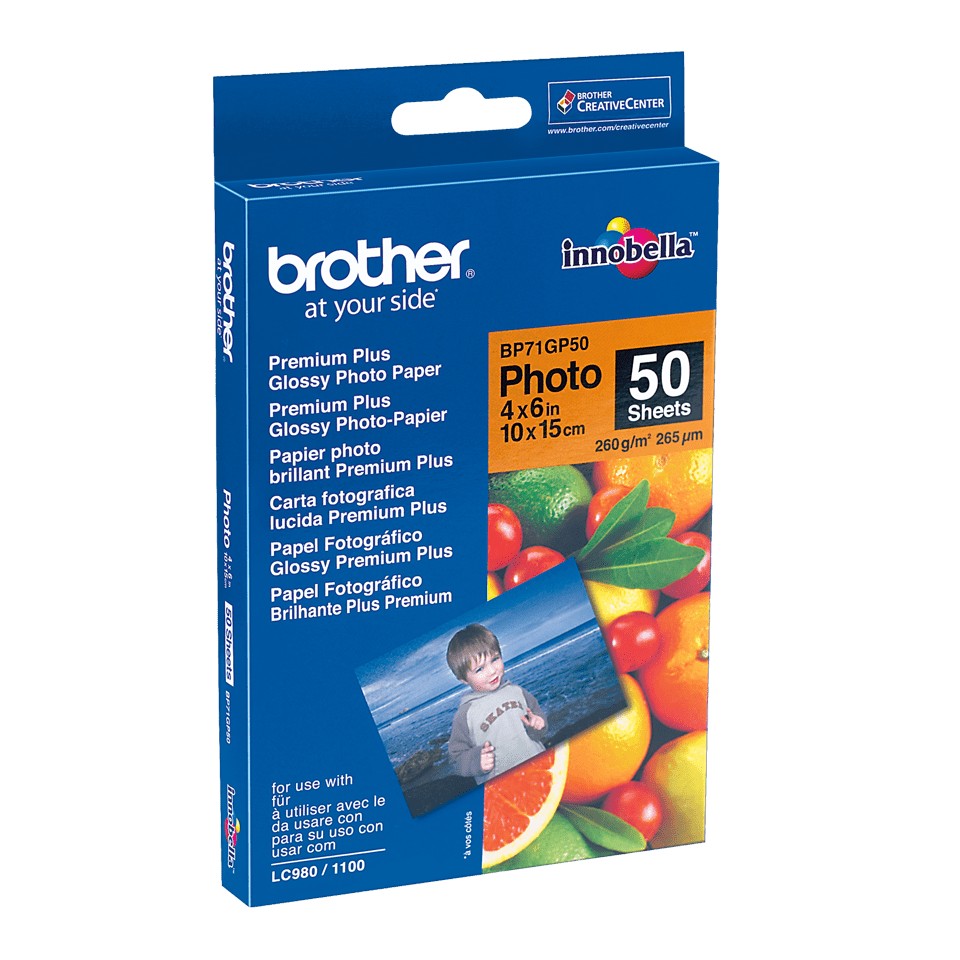 Origineel Brother BP71GP50 Glanzend Fotopapier – 10 x 15 cm