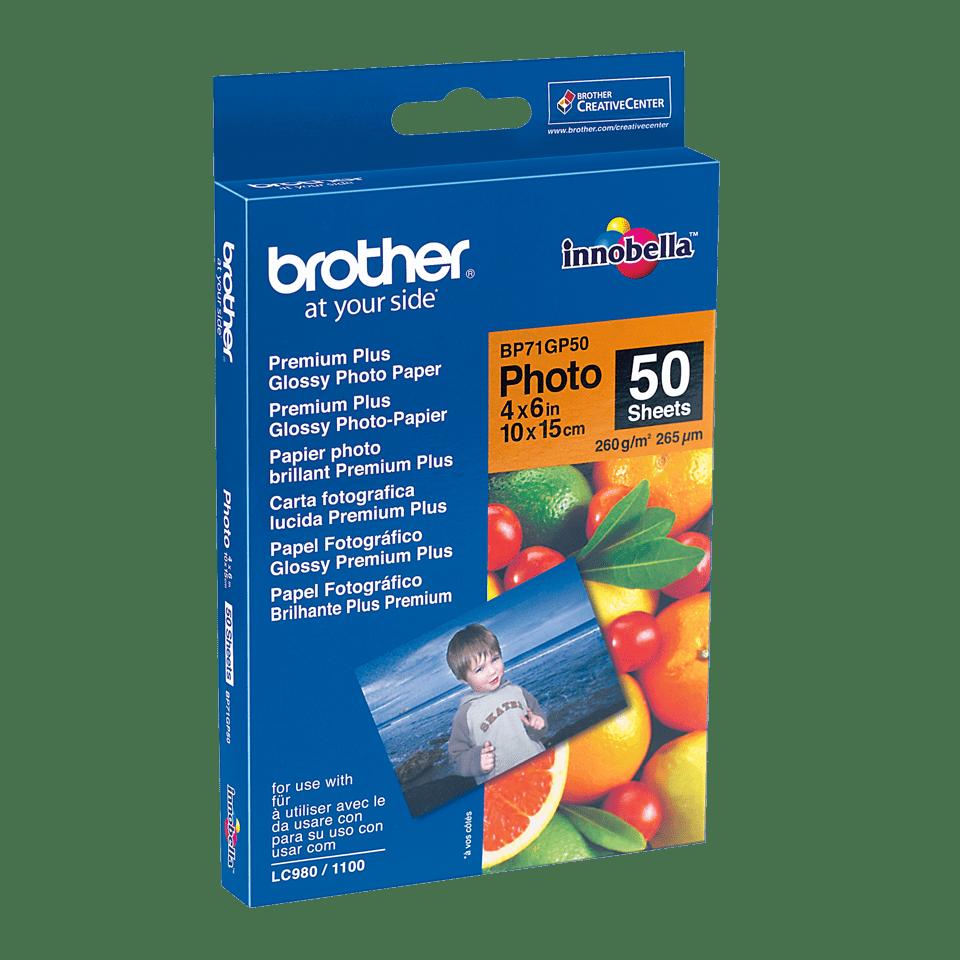 Brother BP71GP50 papier photo brillant 10 x 15cm