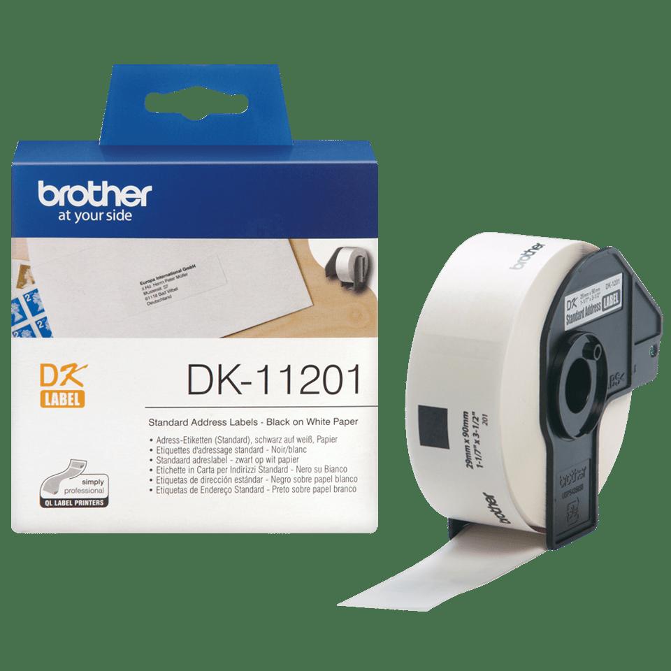 Originele Brother DK-11201 standaard adreslabels - 29 x 90mm 2