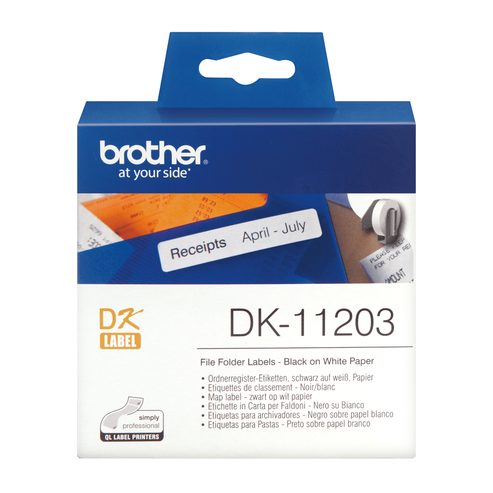 Originele Brother DK-11203 map labels