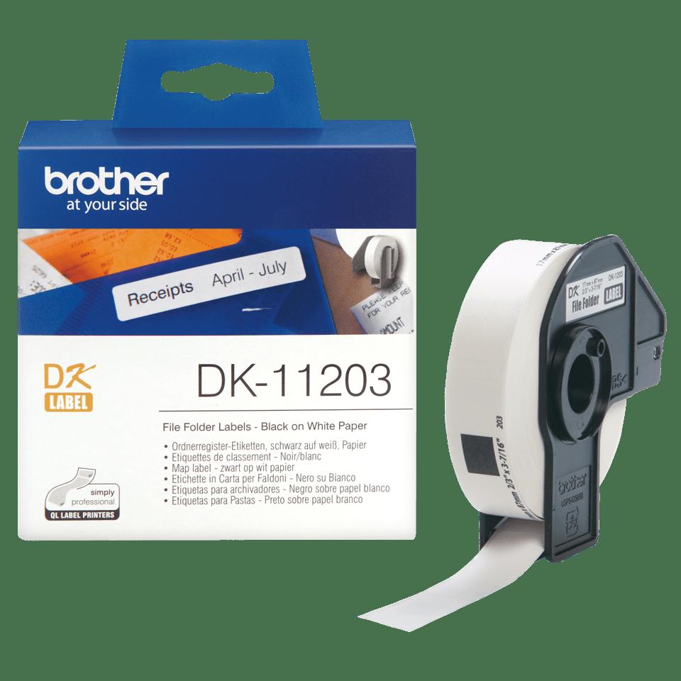 DK-11203 étiquettes de classement Brother originales